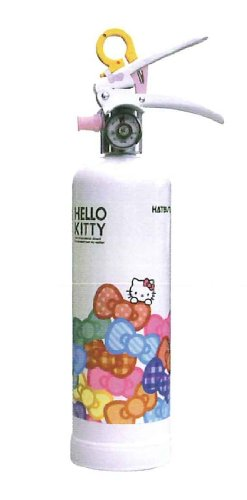 Hatsuta Hello Kitty home extinguisher ( white :HK1-WR ) pressurized * recycle seal attached