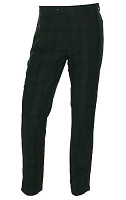 Calvin Klein Slim Fit Charcoal Plaid New Men's Flat Front Dress Pants