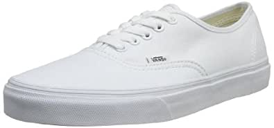 Vans U Authentic, Baskets mode mixte adulte - Blanc (True White), 34.5 EU