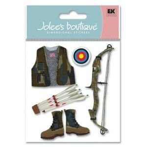 3D JOLEE STIX BOW HUNTER Papercraft, Scrapbooking (Source Book)