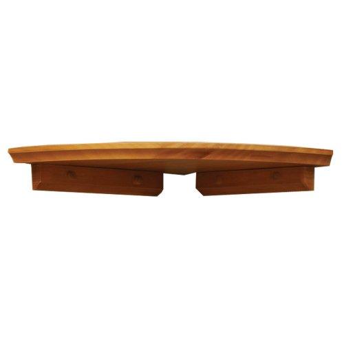 InPlace Shelving 0199122 12-Inch Wide Corner Wall Shelf Kit, Oak