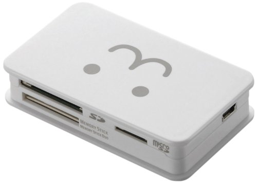 ELECOM カードリーダライタ USB2.0対応 SD+MS+CF対応 ホワイトFACE MR-A39HWHF1