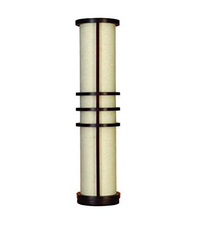 Wood 1-Light Floor Lamp, Beige/Brown