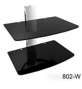 floating glass shelf bracket floating glass shelves electronics. Black Bedroom Furniture Sets. Home Design Ideas