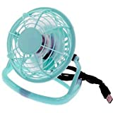 "iMBAPrice® 4"" Quiet USB Mini Desktop Fan with ON/OFF Switch - Light Blue"