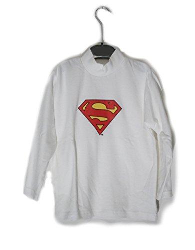 Superman - T-shirt Lupetto Superman Bianco - Taglia: 7 anni