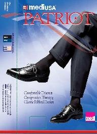 Patriot by Medi Men's Ribbed Knee Highs 15-20mmHg Color: Black (5), Size: Small