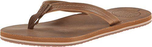 Reef Women's Chill Leather Flip Flop, Tobacco, 7 M US
