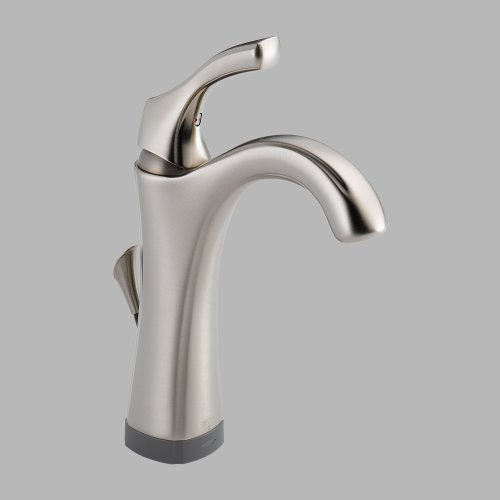 Delta 592T-Ss-Dst Addison Single Handle Lever Lavatory Faucet Stainless front-706464