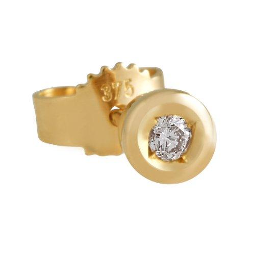 Imagen principal de Bella Donna 631106 - Pendientes de mujer de oro amarillo (8k) con 2 diamantes