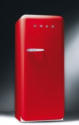Smeg FAB28URL 9.22 cu. ft. 50's Style Refrigerator - Red, Left Hinge