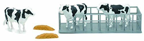 Dairy Farmer Life 3 Cow Set Assorted NewRay SS-05013A - 1