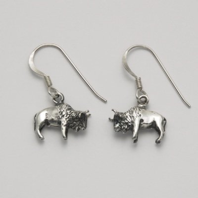 Bison Hook Earrings