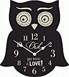 Owl You Need Is Love Decorative Owl Wall or Tabletop Clock (13 Inch)