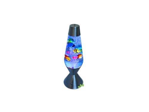 lava lampe als aquarium mit fischen led lampen beleuchtung. Black Bedroom Furniture Sets. Home Design Ideas