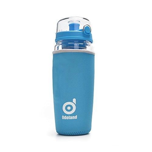 ODOLAND® ODOLAND【946ml大容量】2 in 1 セット マイボトル 水筒 100% BPAフリー カバー付き(ネオプレンスリープ)  スポーツ、キャンプ、オフィス、家庭、学校などおススメ (ブルー)