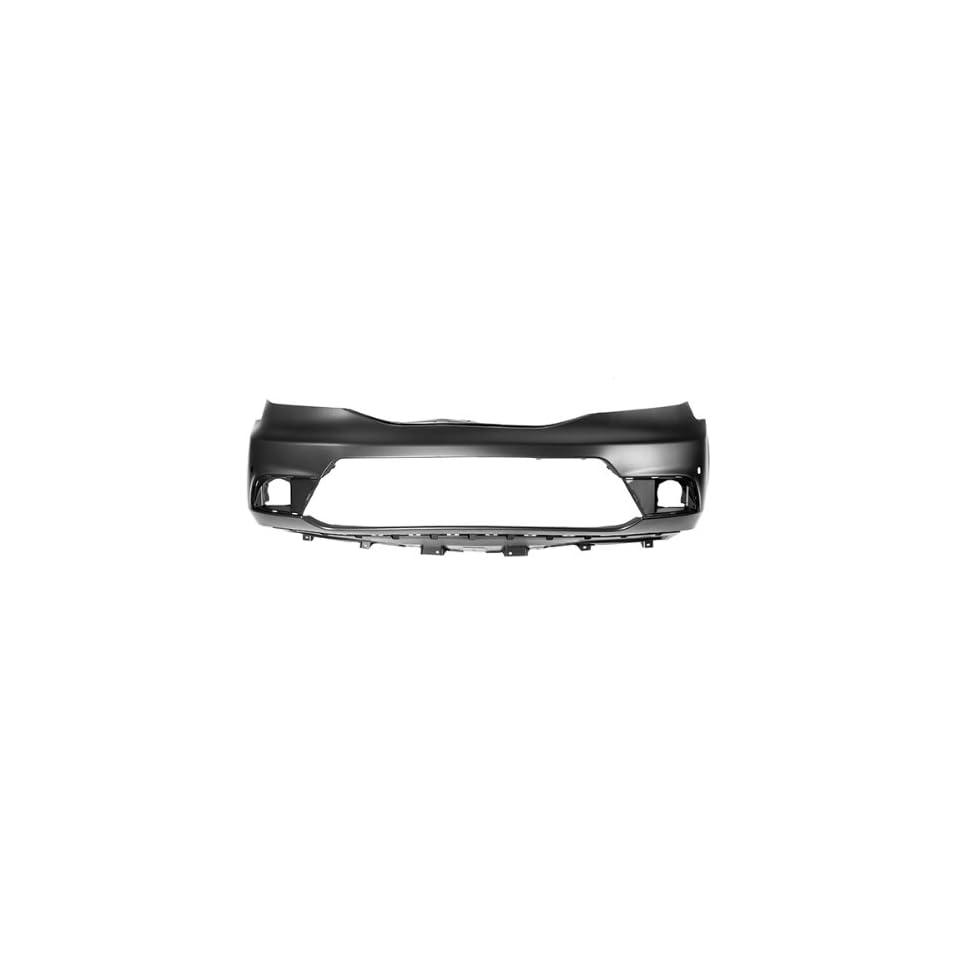 CarPartsDepot, Unprimed Plastic Front Bumper Cover New Replacement Sensor Holes, 352 202286 10 BK HO1000286 04711SZAA60ZZ
