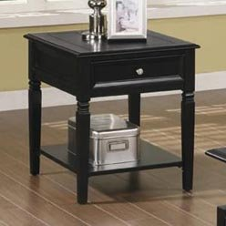 Cheap Bimam Classic End Table with Drawer and Shelf by Coaster (B0051PE1CC)