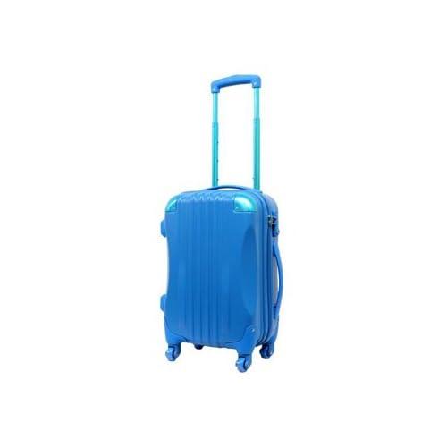 【東京ガールズコレクション ランウェイ商品】ハード キャリーケース actus color's ジッパーキャリー スカイブルー Sサイズ 47cm スーツケース