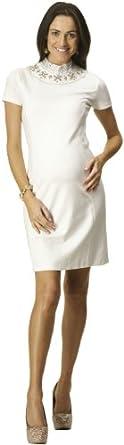 Rosie Pope Maternity Onassis Dress Ivory XSM
