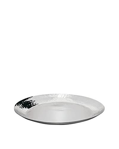 Torre & Tagus 17 Flare Hammered Stainless Steel Platter As You See