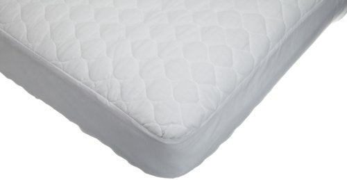 American Baby Company 2763 Waterproof Fitted Quilted Crib and Toddler Mattress Pad Cover (White)