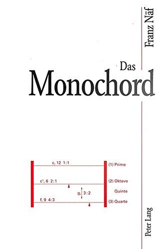 Das Monochord Versuchsinstrument zur quantitativen Erklärung von Tonsystemen  [Näf-Gubler, Regula] (Tapa Blanda)