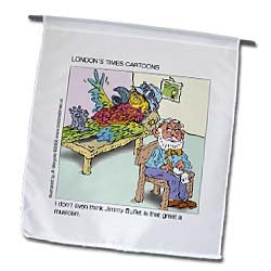 Amazon.com: Jimmy Buffett Parrot Therapy - 12 X 18 Inch Garden ...