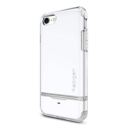 Spigen-Flip-Armor-iPhone-7-Case-with-Durable-Protection-and-Hidden-Card-Storage-for-iPhone-7-Jet-White