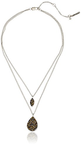 Kenneth Cole New York Two-Tone Faceted Bead Duo Pendant Necklace