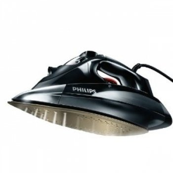 Philips Azur GC4890/02 Steam Iron with Anodilium Technology Soleplate, 2600 Watt - Black
