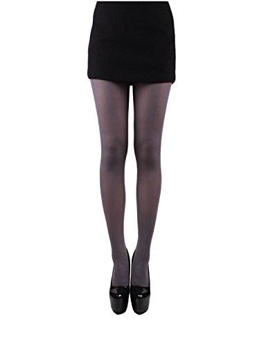 10STAR11 Women's Premium 80 Den Sexy Body Shaping Soft Pantyhose Tights GRAY,O