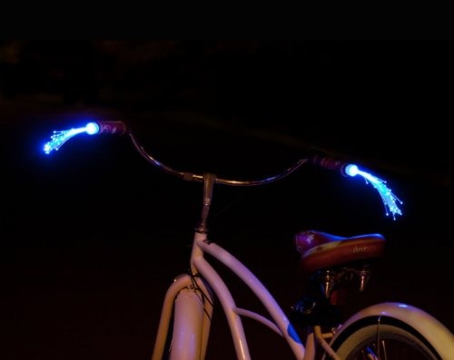 Handlebeams Light up Bike Handle Streamers - Blue Lights