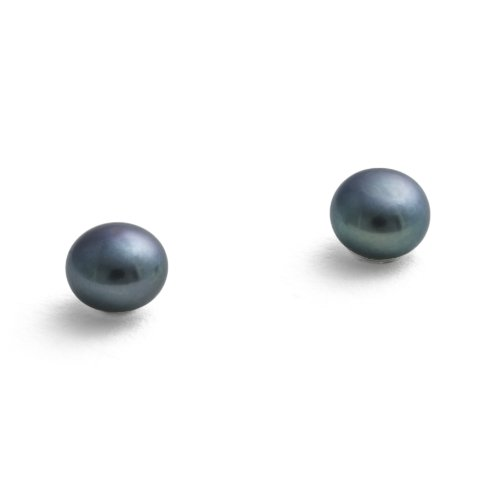 Jersey Pearl Sterling Silver Cultured Freshwater Small Pearl Earrings