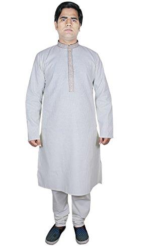 abiti da uomo giacca del pigiama moda kurta kurta artigianali etnici fuori formato bianco l