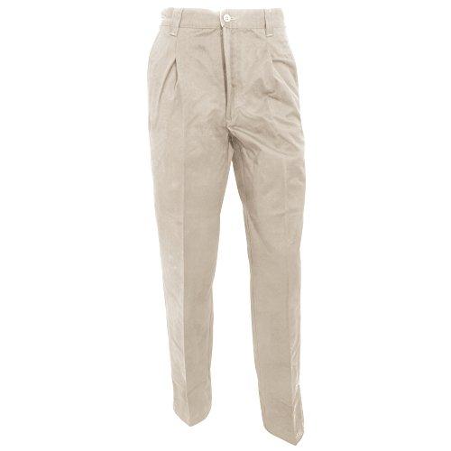 RTY Workwear - Pantaloni Chino da Lavoro - Uomo (girovita 76 cm - L) (Roccia)