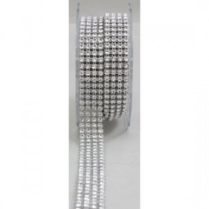 4 Row Acrylic Rhinestone Diamond Cake Ribbon Banding 2 Yards