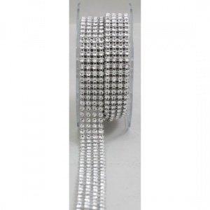 4 Row Acrylic Rhinestone Diamond Cake Ribbon Banding 2 Yards