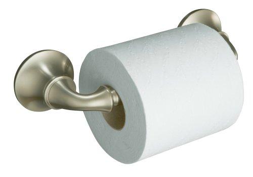 KOHLER K-11374-BN Forte Sculpted Toilet Tissue Holder, Vibrant Brushed Nickel (Kohler Forte Towel Bar compare prices)