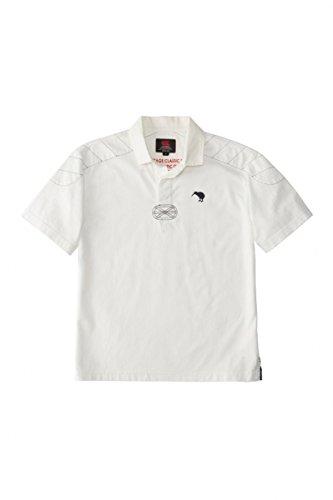 Кентербери (Кентербери) 3 л регби рубашка с коротким рукавом (мужчины) (11) кремовый