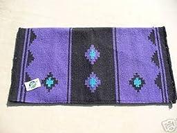 Mayatex Mayatex Show Saddle Blanket Pad Horse Tack Purple And Black