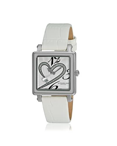 Stuhrling Women's Courtly Passion Vogue White/Silver Watch As You See