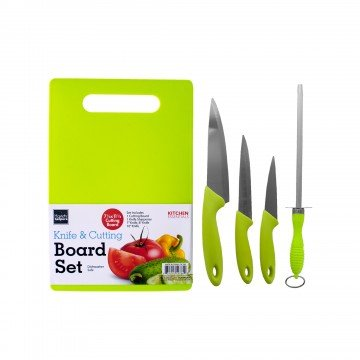 Cutting Board Set Plus Kitchen Knives - Includes Cutlery Chef's, Utility, Paring Cooking Knives, Knife Sharpener, Chopping Board Set, Professional Chef Knife Set for Kitchen, New