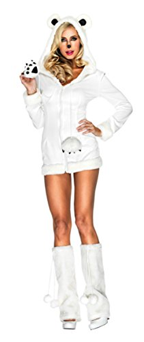 Leg Avenue Womens Animals White Snowy Polar Bear Hot Sexy Adults Fancy Costume