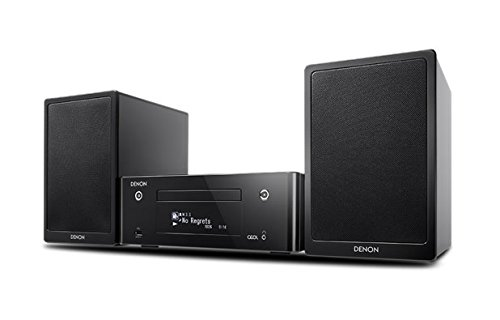 Denon CEOL RCD-N9 - System with Dedicated SC-N9 Speakers - Black Finish. Includes 5 Metres Chord Leyline Speaker Cable.