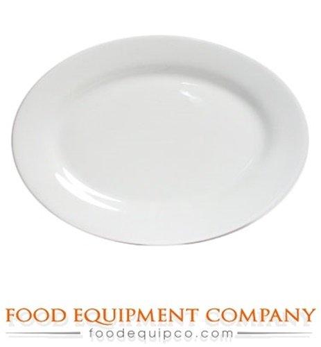 Tuxton ALH-200 Vitrified China Alaska Oval Platter, Wide Rim, Rolled Edge, 20