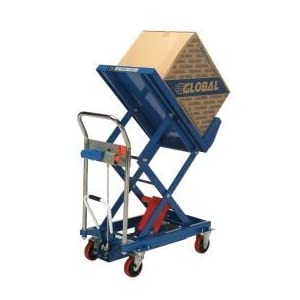 Mobile Lift & Tilt Scissor Lift Table 400 Lb. Capacity