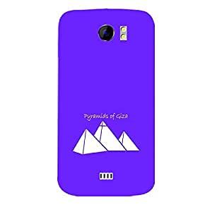 Skin4gadgets Iconic Wonder Pyramid of Giza Colour - Purple Phone Skin for CANVAS 2 (A110)