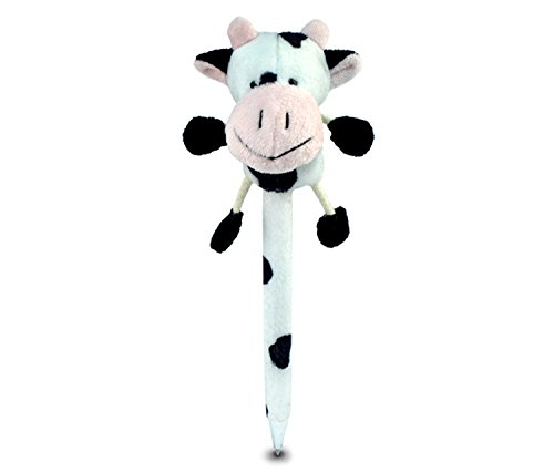 Puzzled Cow Plush Pen
