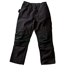 Blaklader Workwear Bantam Pant with out Utility Pockets, 38-Inch Waist, 32-Inch Length, 8-Ounce Cotton - Black